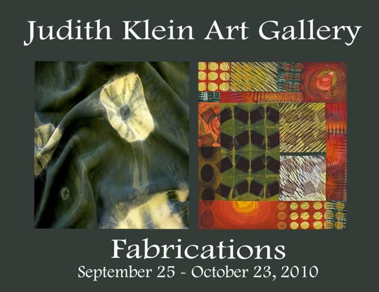 FABRICATIONS – Judith Klein Art Gallery – Surface Design ...